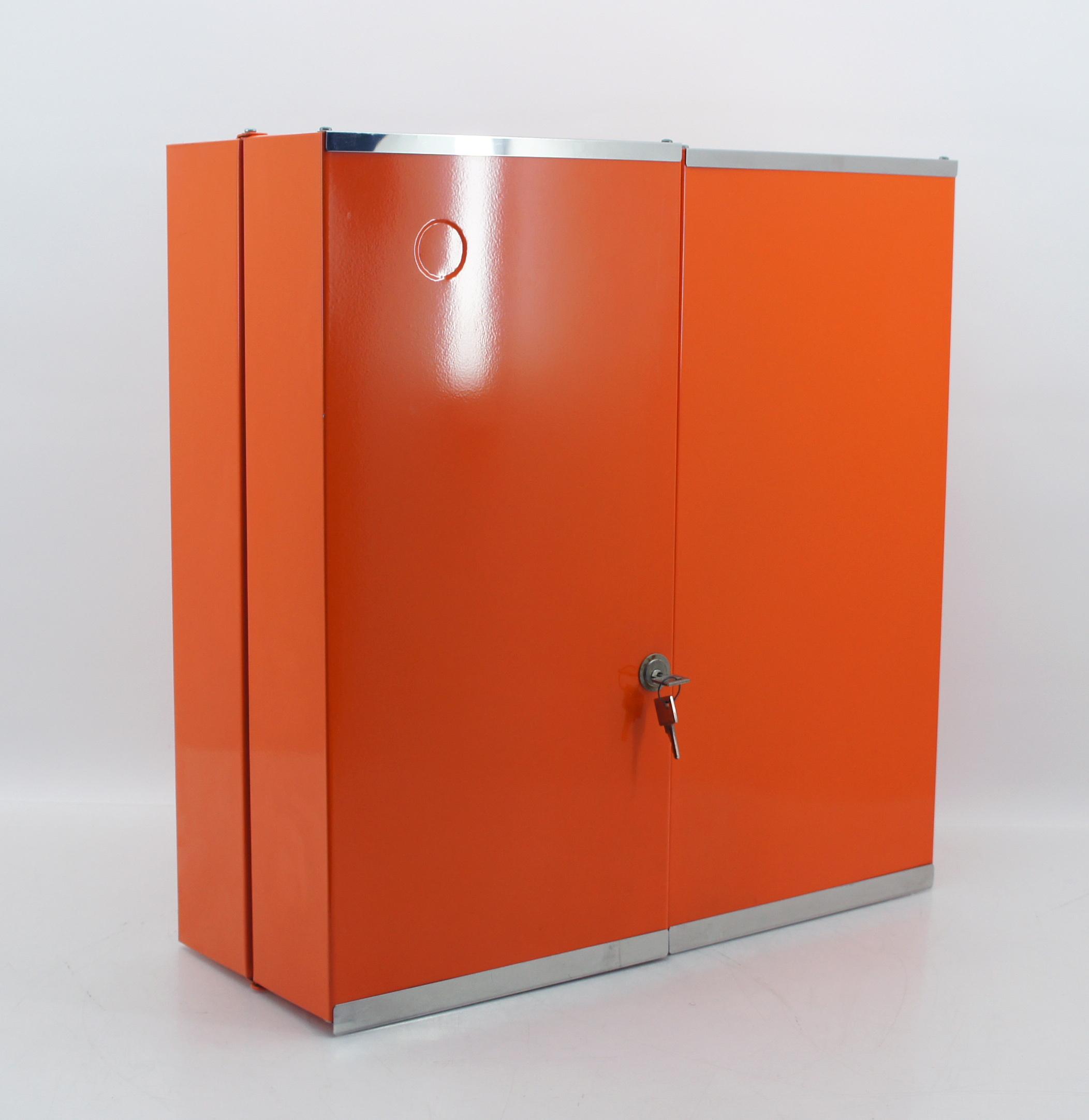70er badezimmer schrank hängeschrank orange metall utensilio, Badezimmer ideen