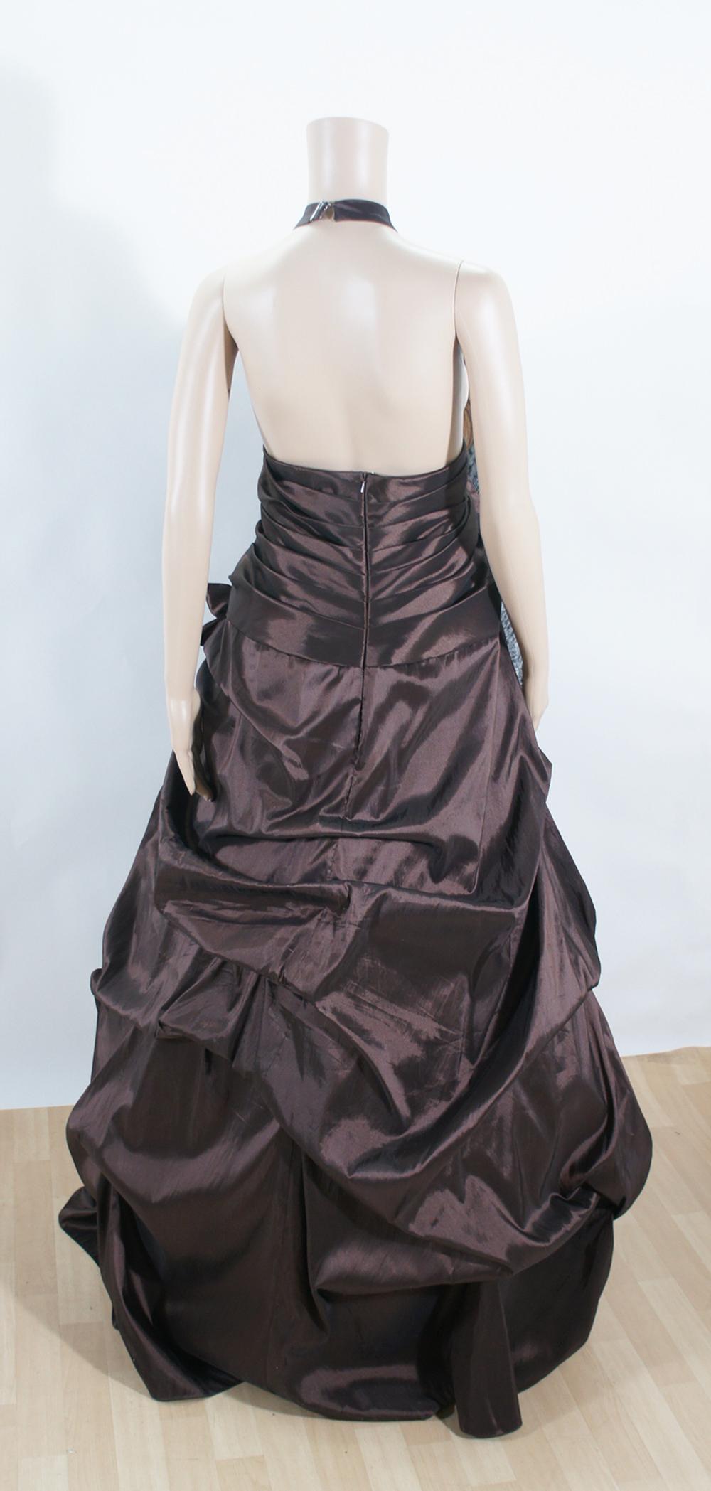Abendkleid Festkleid Ballkleid Tobac braun Gr. 52 ...