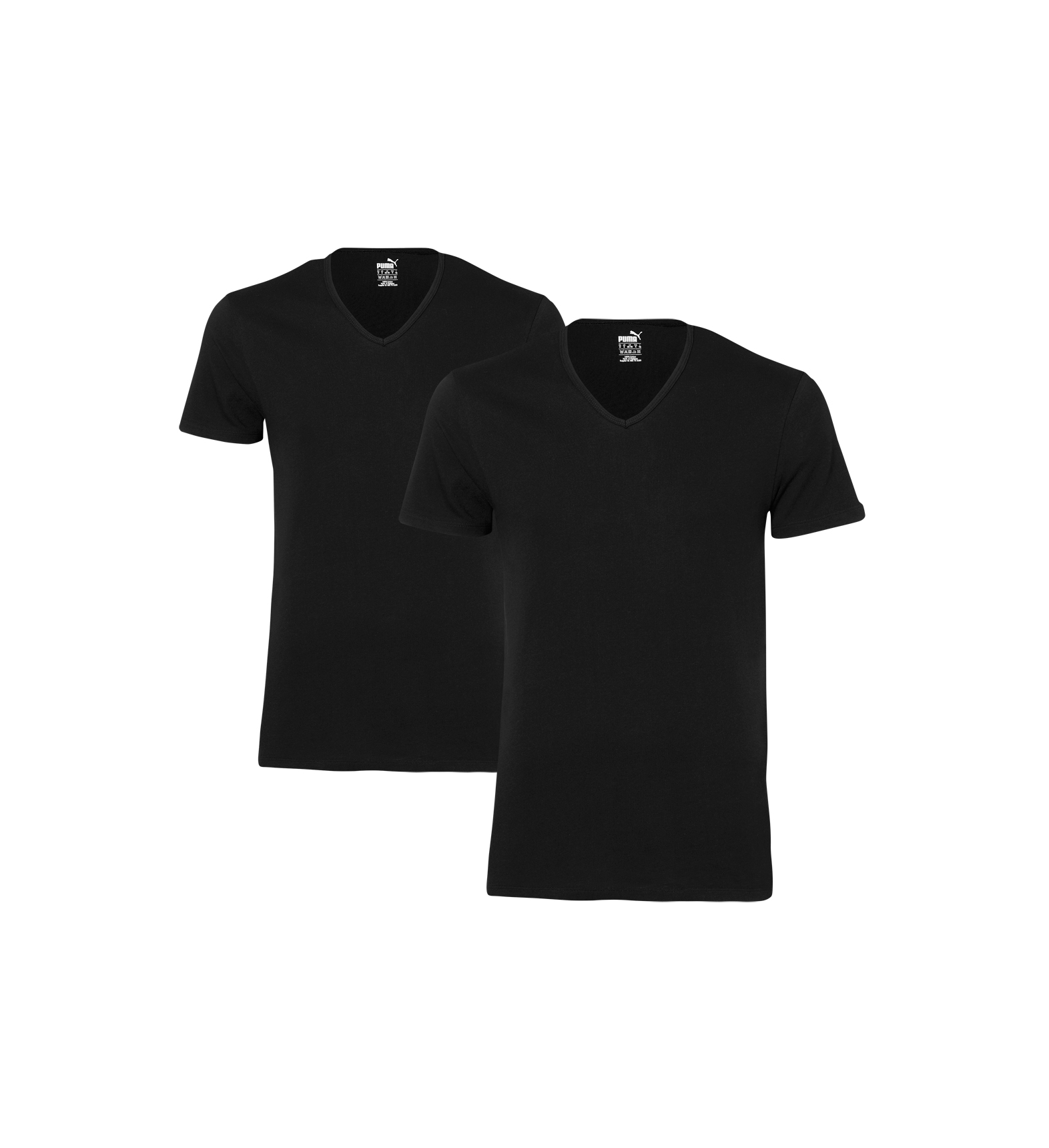 PUMA-2er-Pack-Round-Neck-Rundhals-V-Neck-T-Shirts-S-M-L-XL
