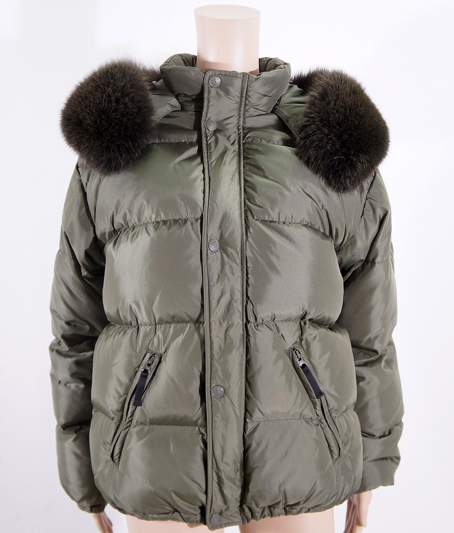 Details zu GANT Sports ASPEN DOWN Damen Jacke Daunenjacke Winterjacke mit Pelz Gr. 38 M