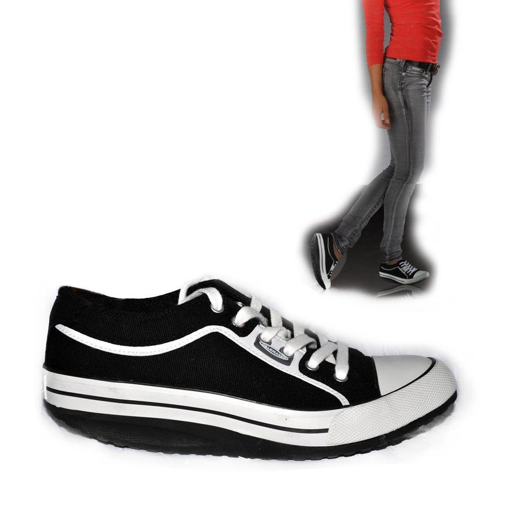 WALKMAXX-Damen-Freizeitschuhe-Sneaker-Canvas-Sportschuh-weiss-oder-schwarz-Gr-44