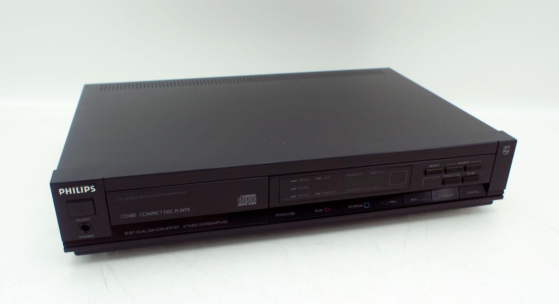 philips cd 480 30r cd player avec cdm 4 19 bras oscillant. Black Bedroom Furniture Sets. Home Design Ideas