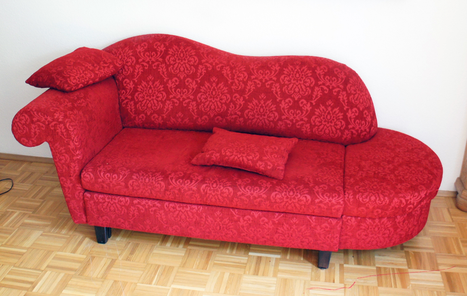 recamiere mit schlaffunktion schlafsofa sofa g stebett rot rs m bel ebay. Black Bedroom Furniture Sets. Home Design Ideas