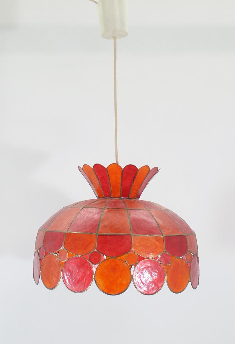 deckenlampe perlmutt schildplatt orientalisch indisch rot. Black Bedroom Furniture Sets. Home Design Ideas