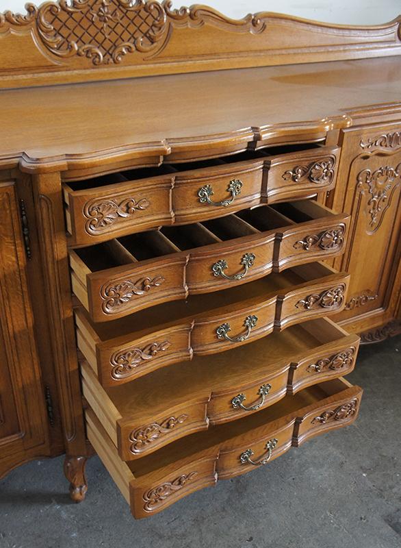 antike anrichte kommode sideboard schrank biedermeier 250 cm lang ebay. Black Bedroom Furniture Sets. Home Design Ideas