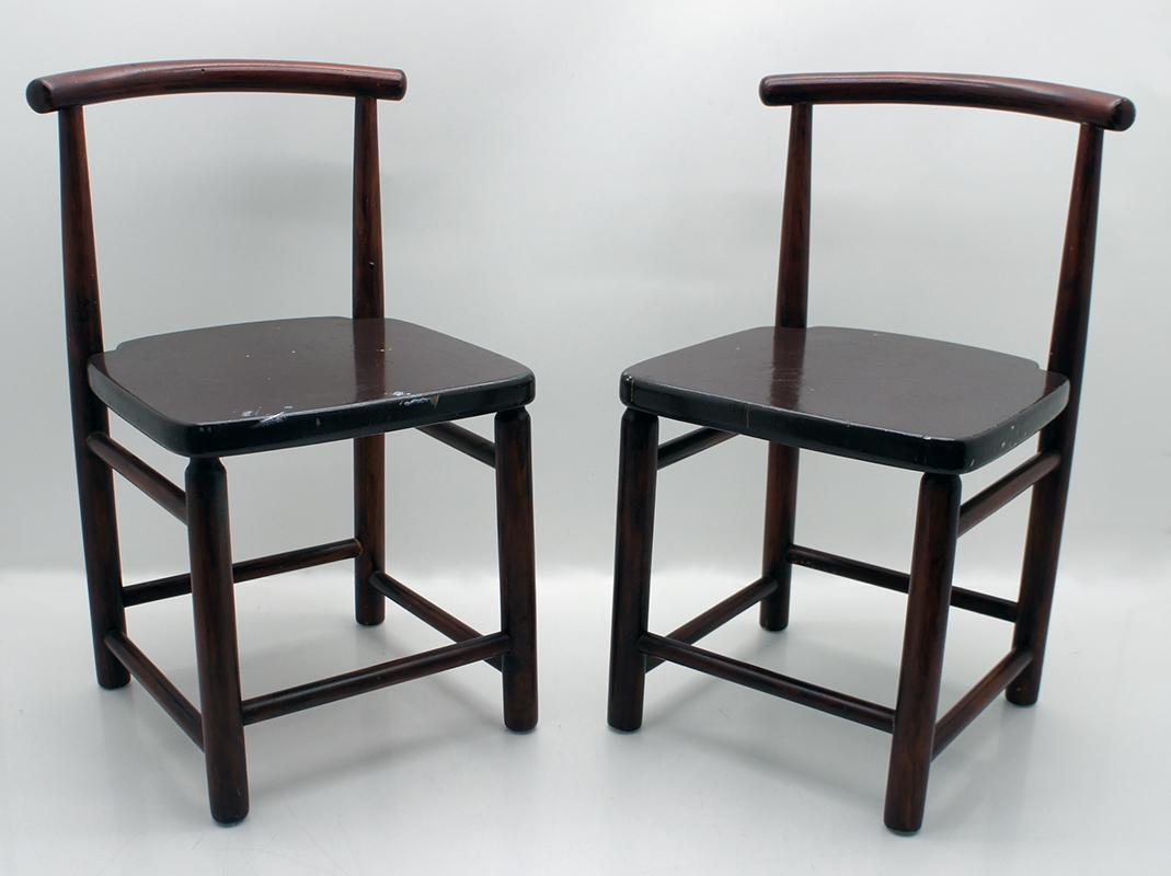 2 st hle kinderst hle stuhl 60er jahre holz schweden. Black Bedroom Furniture Sets. Home Design Ideas