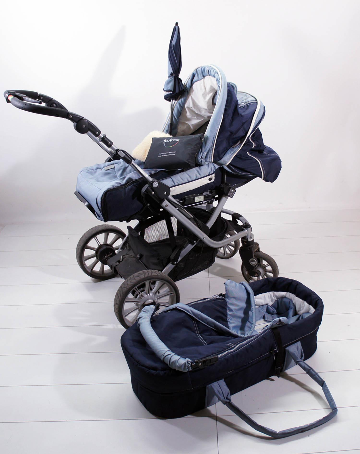 teutonia mistral s collection 2007 kinderwagen blau. Black Bedroom Furniture Sets. Home Design Ideas
