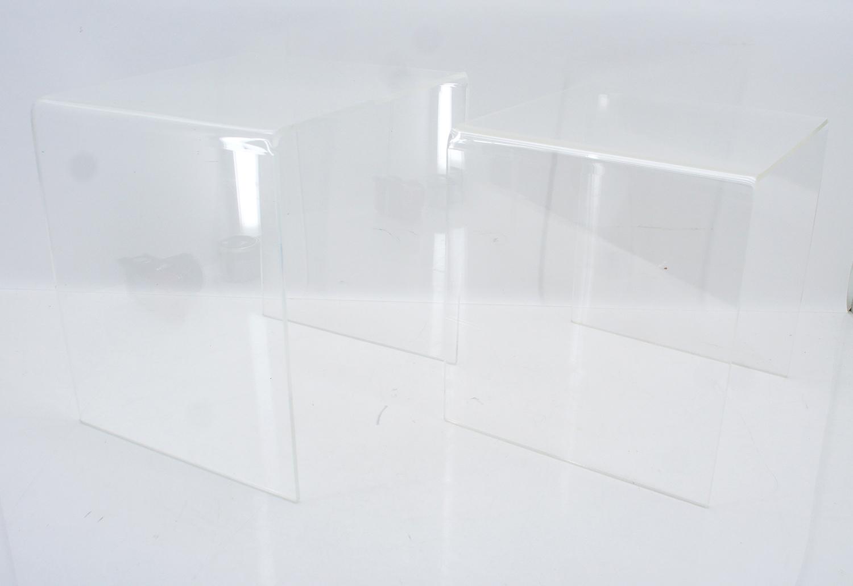 2 x satztisch acryl plexiglas u form 70er jahre tische. Black Bedroom Furniture Sets. Home Design Ideas