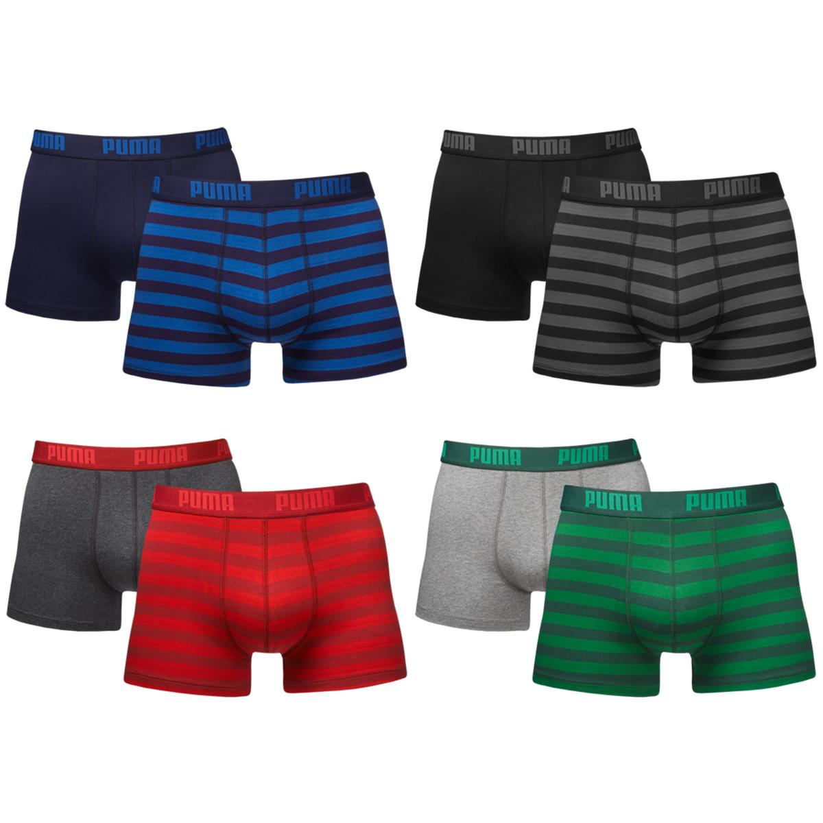puma 2er pack striped 1515 boxers boxershorts boxer short herren unterhose s xl ebay. Black Bedroom Furniture Sets. Home Design Ideas