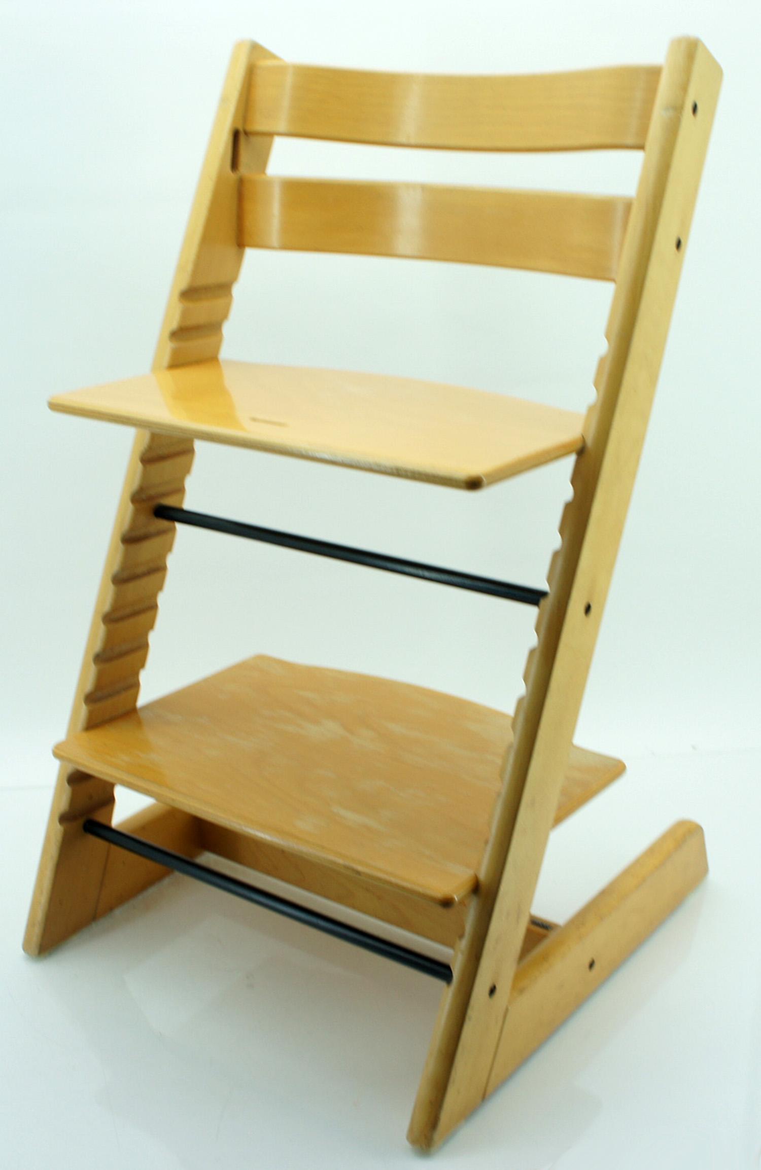 stokke tripp trapp chaise haute enfants chaise bois marron. Black Bedroom Furniture Sets. Home Design Ideas