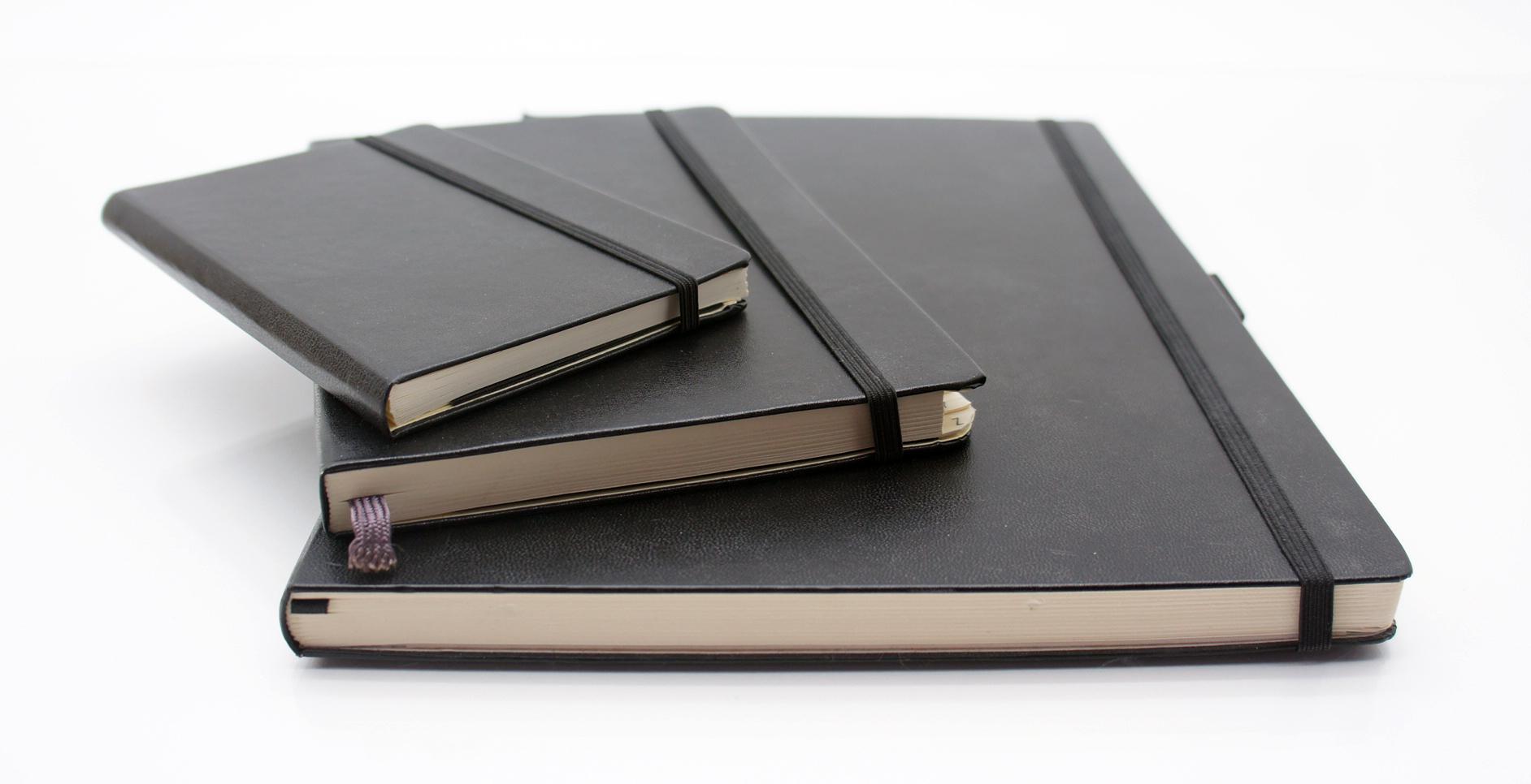 3 x Notizbuch Kladden Din A 4 A5 A6 kariert Registratur blank ...