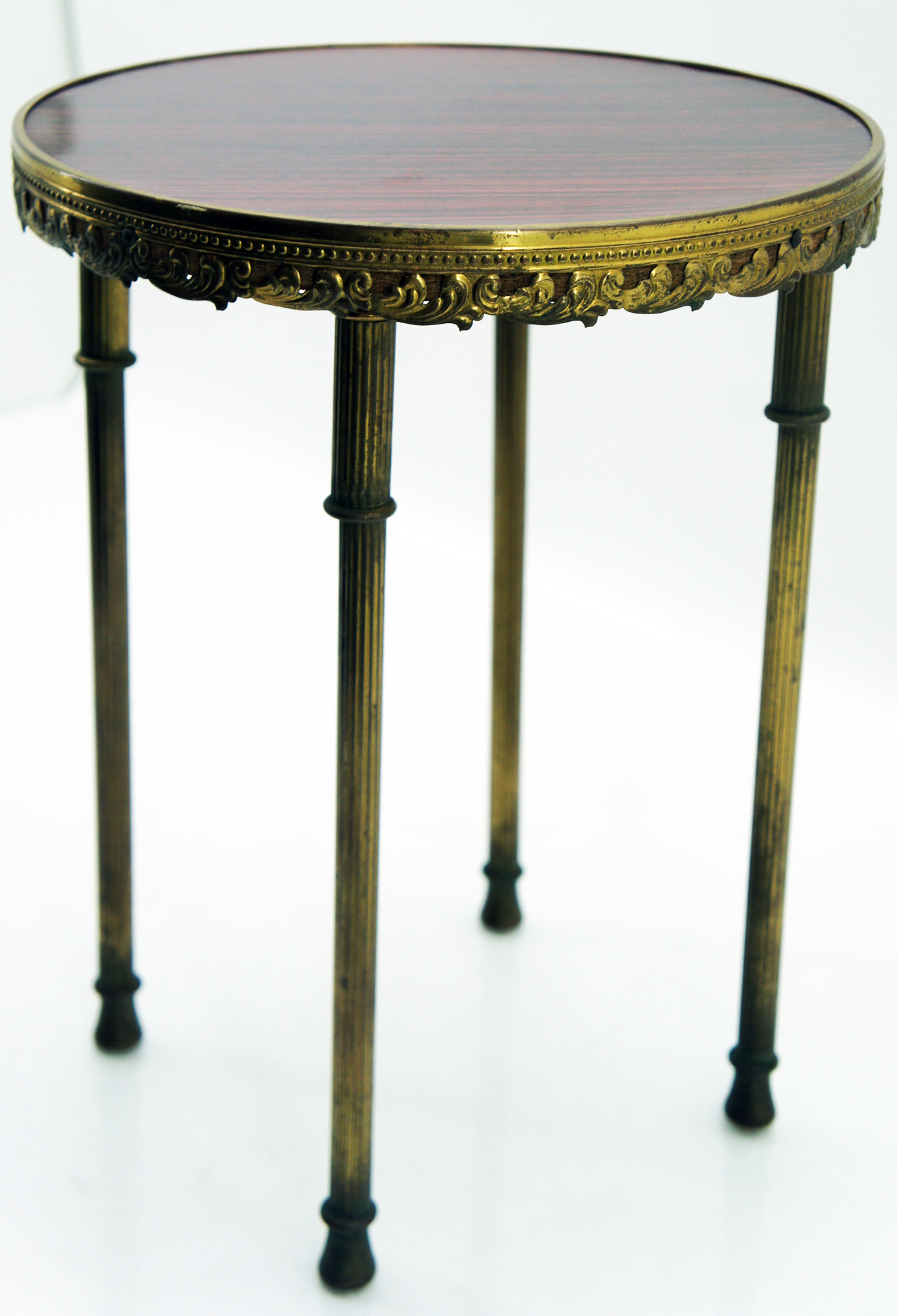 old plant stool flowers stool brass wood 33 cm high 25 cm ebay. Black Bedroom Furniture Sets. Home Design Ideas