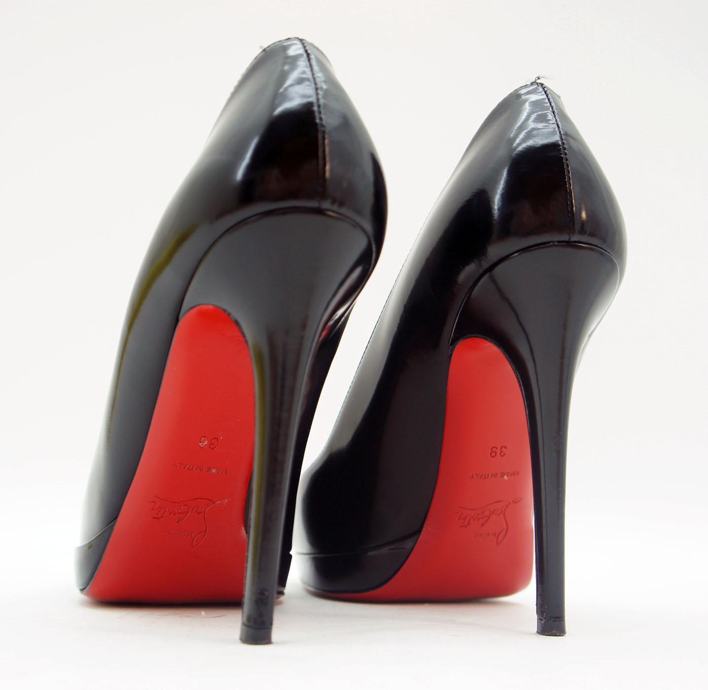 christian louboutin high heels schwarz