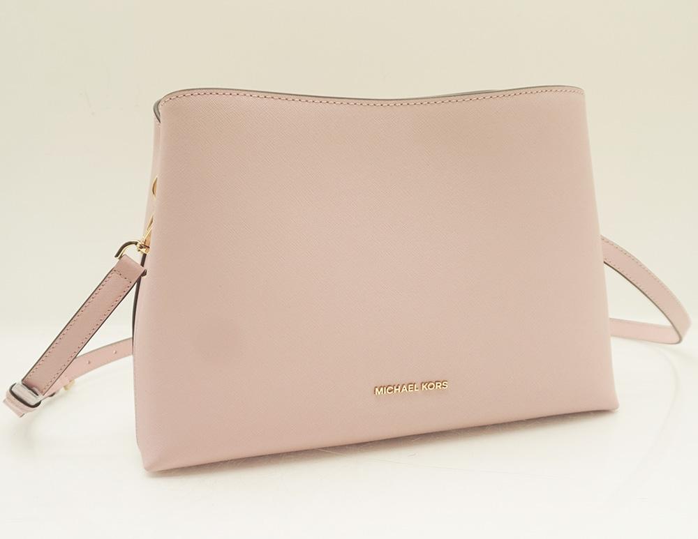 michael kors portia handtasche schultertasche portia satchel leather soft pink ebay. Black Bedroom Furniture Sets. Home Design Ideas