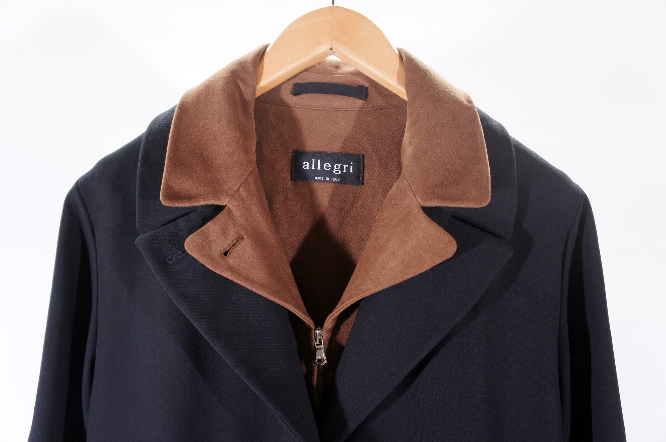 Details zu Allegri Damenmantel schwarz braun Mantel Gr. 38 Made in Italy