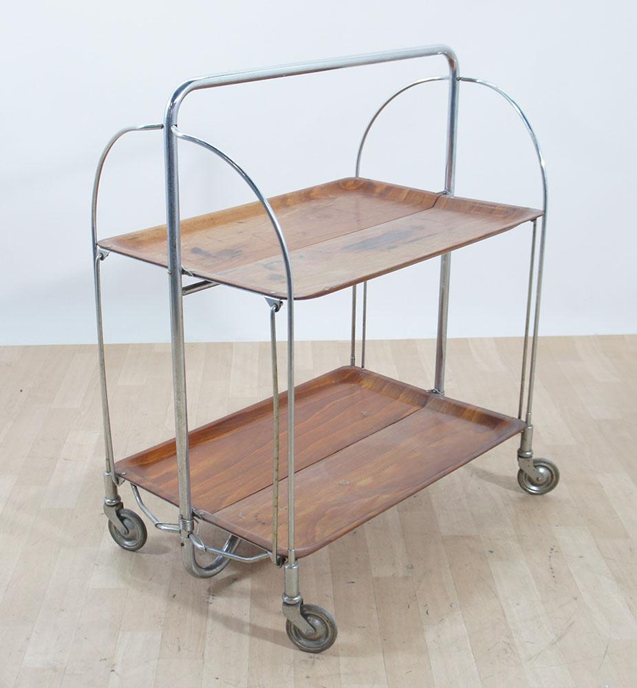 70er jahre bremshey dinett beistellwagen teewagen klappbar braun ebay. Black Bedroom Furniture Sets. Home Design Ideas