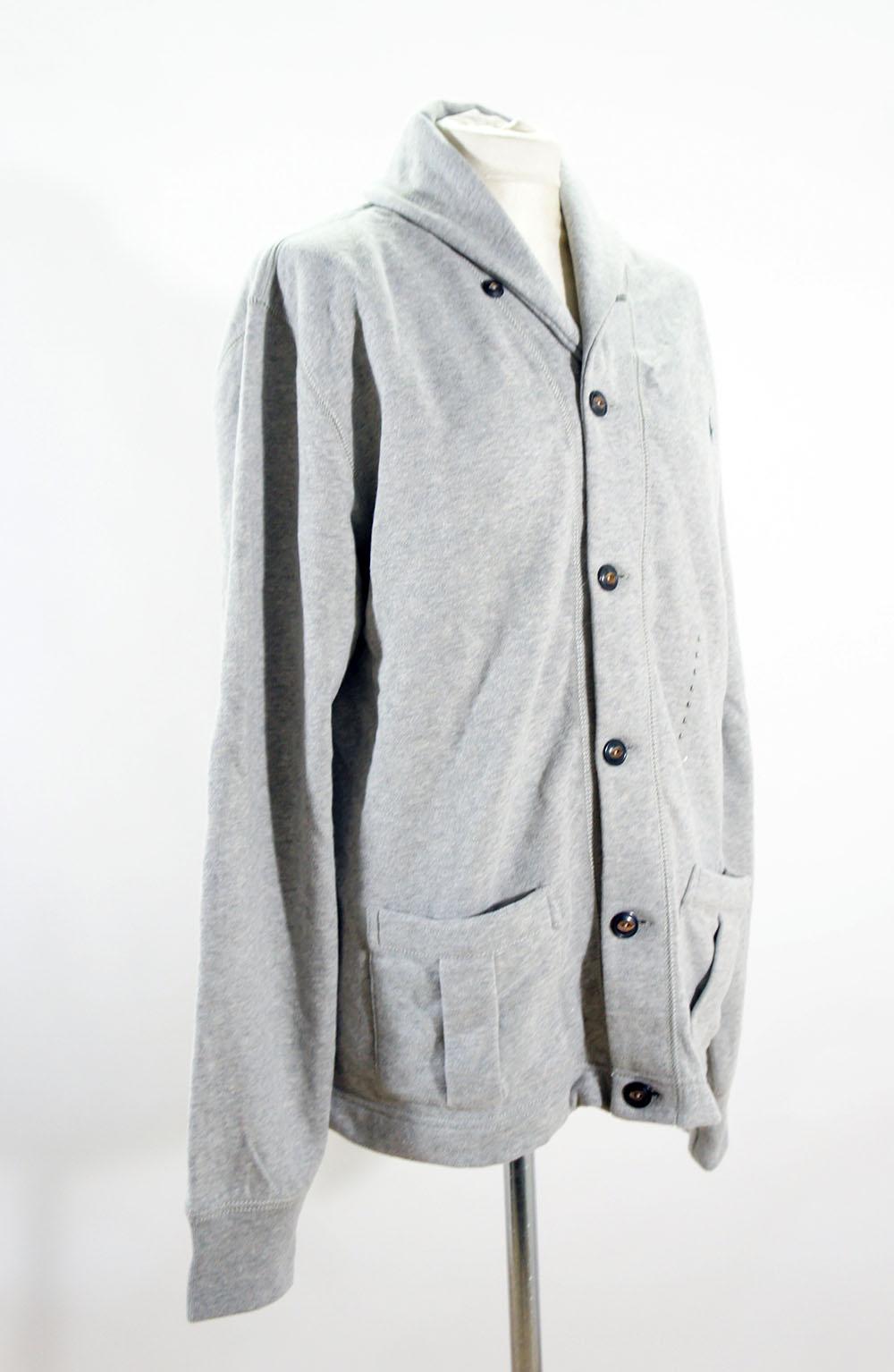 ralph lauren cardigan jacke pullover herren gr l neu grau ebay. Black Bedroom Furniture Sets. Home Design Ideas