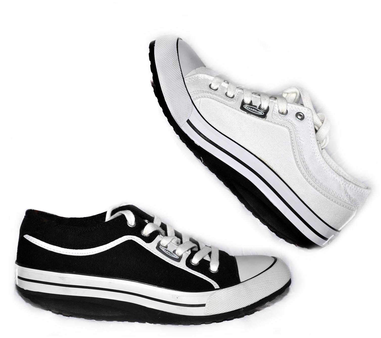 Freizeitschuhe Oder Damen Sneaker Sportschuh Canvas Walkmaxx Weiß zqpSMVGU