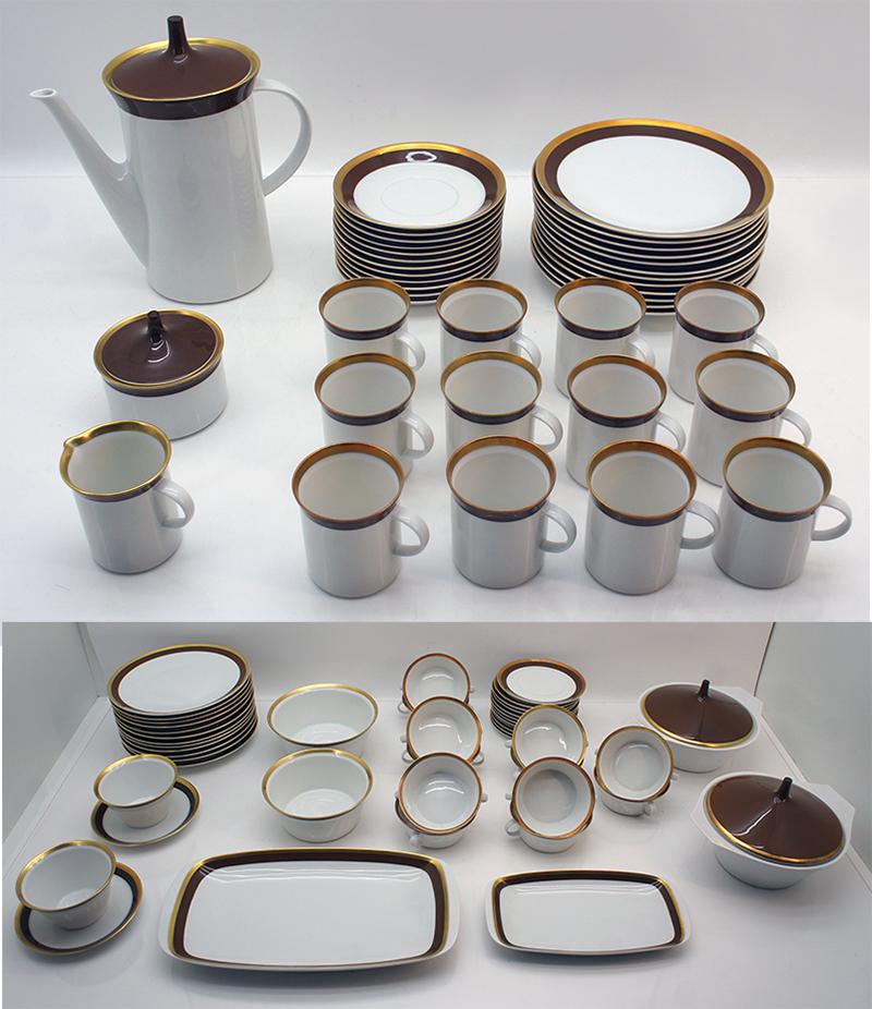 83 tlg f r 12 personen rosenthal kaffee und essservice kurf rstendamm baumann ebay. Black Bedroom Furniture Sets. Home Design Ideas