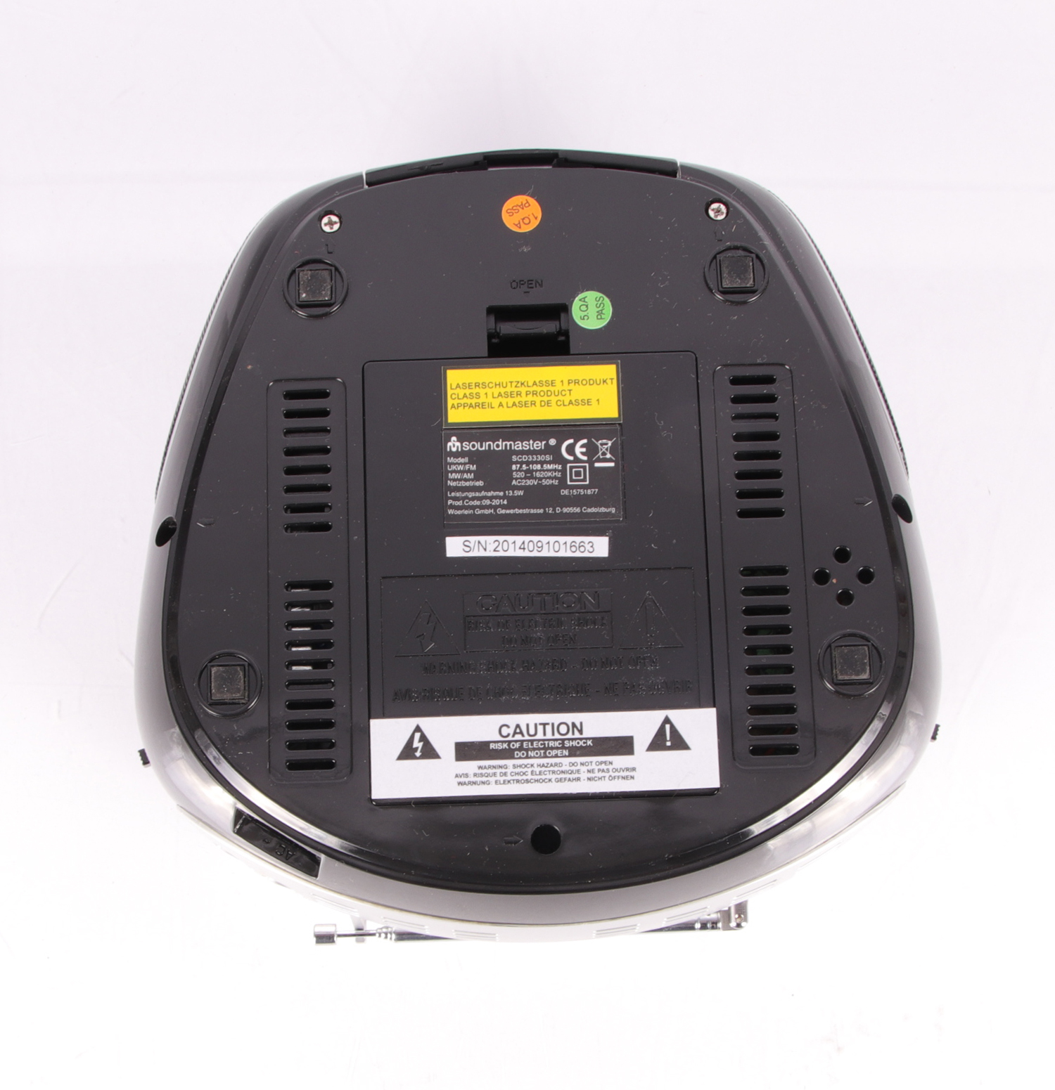scd3330si soundmaster cd player mit radio funktion ebay. Black Bedroom Furniture Sets. Home Design Ideas