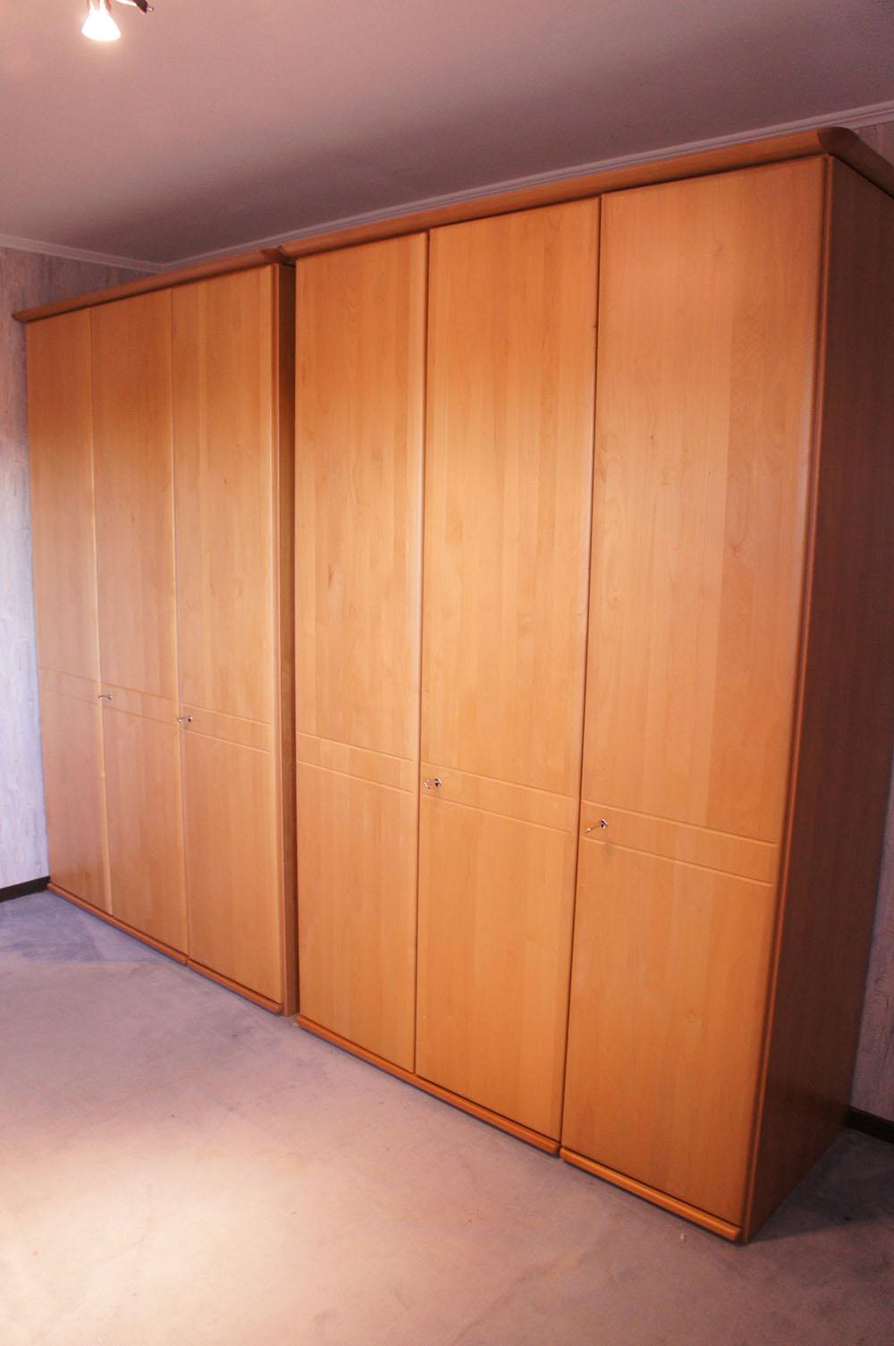 2 x kleiderschrank schrank schlafzimmer buche ings 6 t ren 2 x 150 cm breit ebay. Black Bedroom Furniture Sets. Home Design Ideas