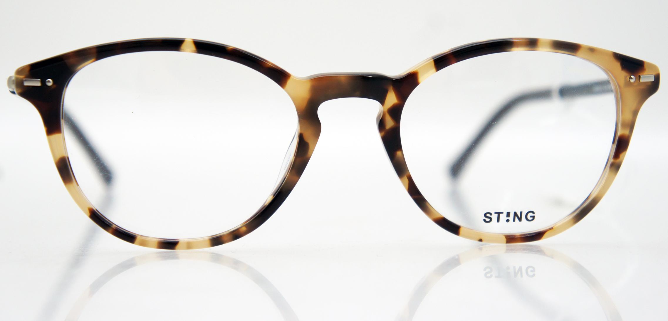 Sting VS6561W Brille Brillengestell 0960 braun beige blau 42/12/140 ...