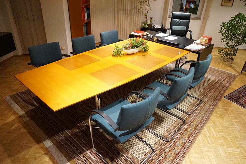 konferenztisch besprechungstisch b rotisch schreibtisch buche 250 320 cm lang ebay. Black Bedroom Furniture Sets. Home Design Ideas