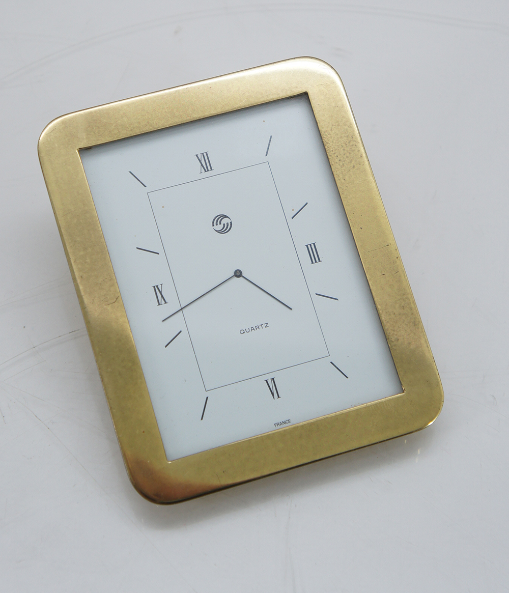 l mce table clocks clock brass clock regarder horloge de bureau quartz ebay. Black Bedroom Furniture Sets. Home Design Ideas