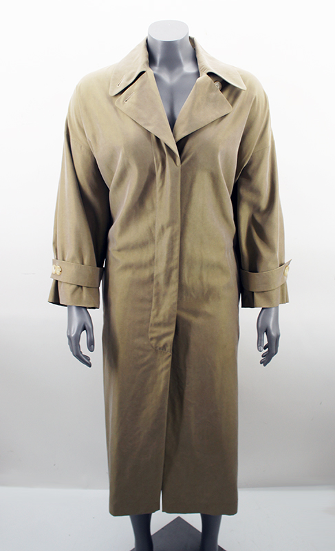joop trenchcoat damen jacke mantel beige braun 75 seide gr 36 s. Black Bedroom Furniture Sets. Home Design Ideas