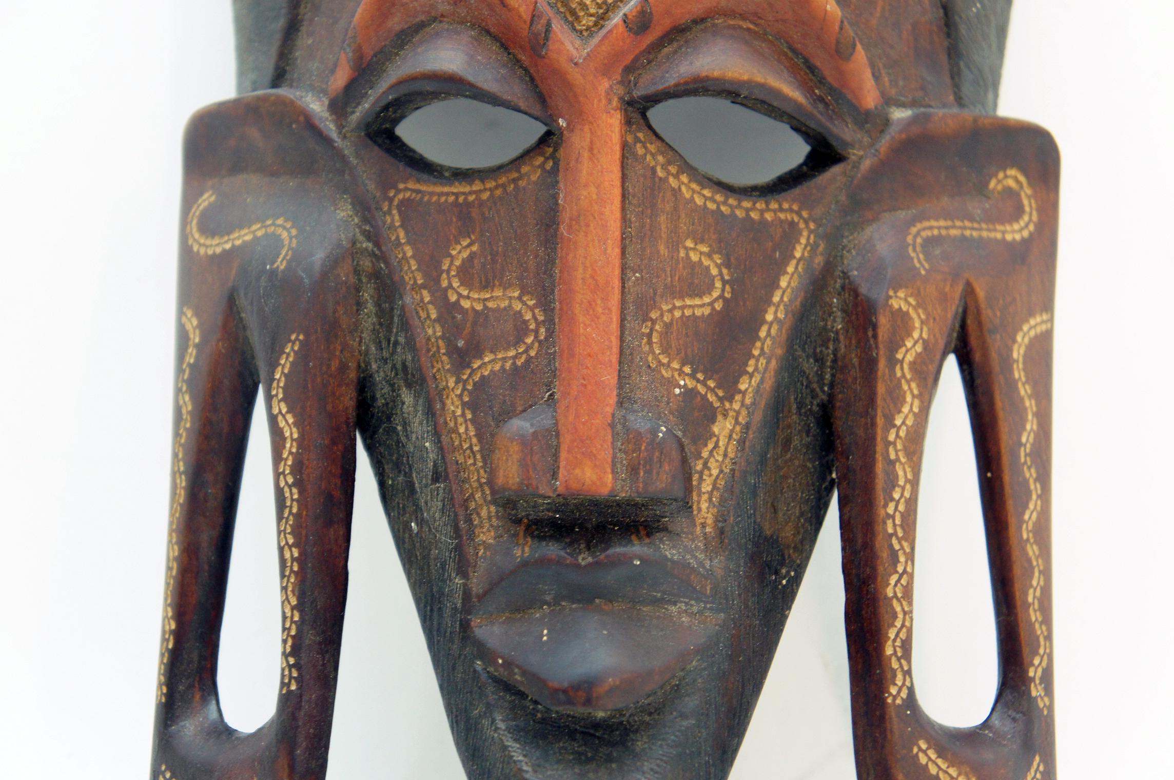 afrika afrikanische holz maske ebay. Black Bedroom Furniture Sets. Home Design Ideas