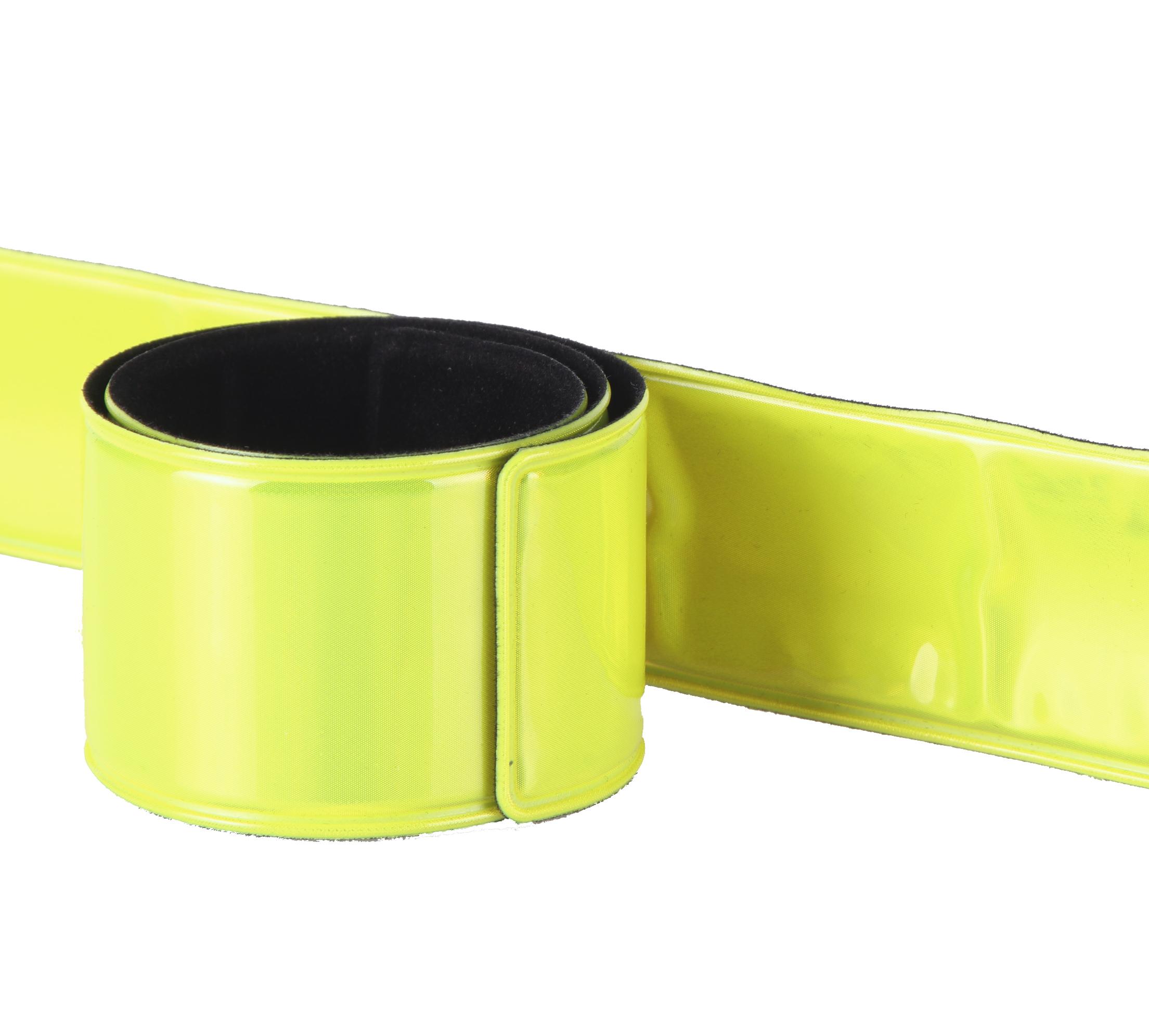Reflektor Hosen Klick Band 2x 30cm Fahrrad Laufen Leuchtband Klammer Schnappband