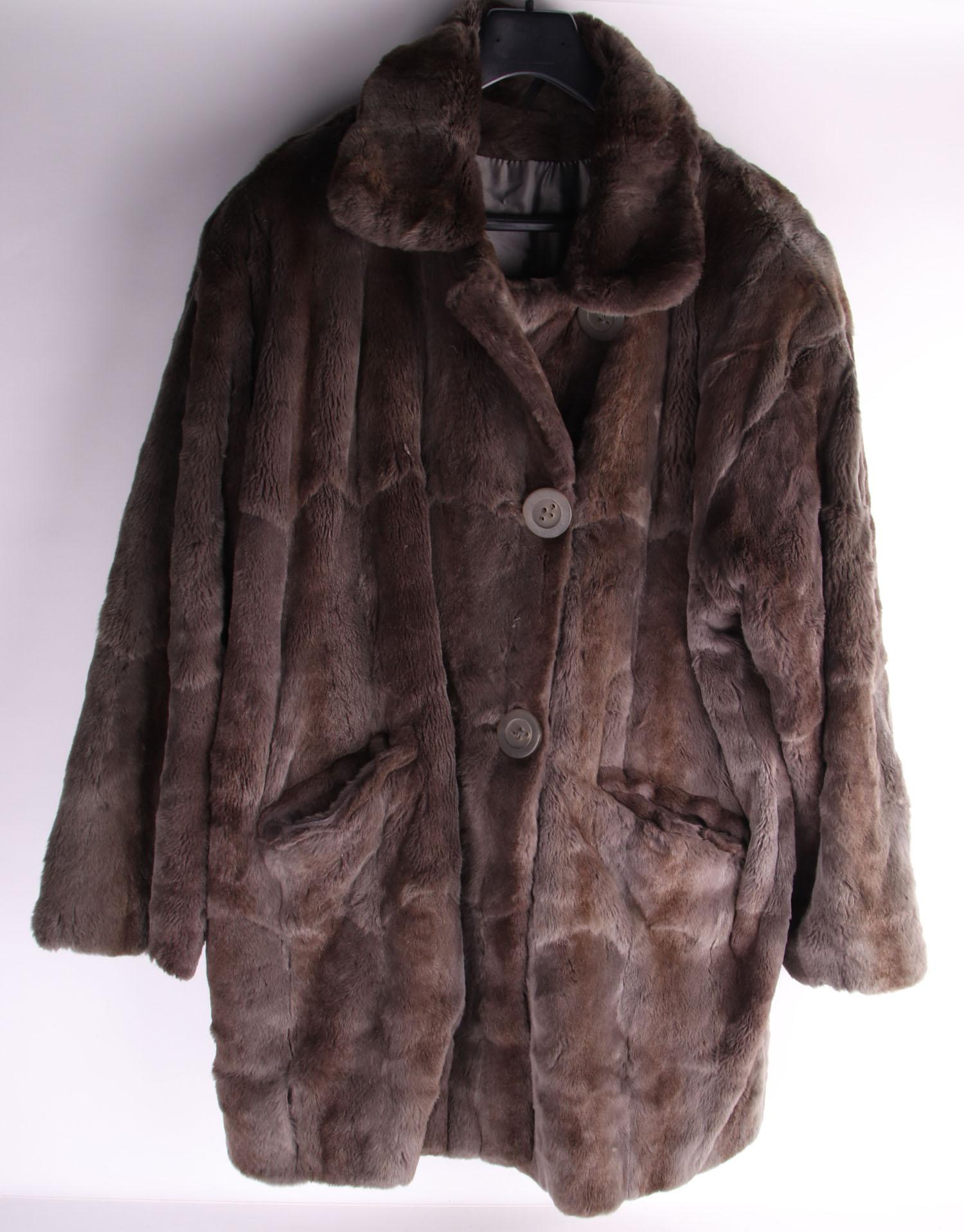 Details zu Nutria Pelzmantel Pelz Mantel Fur Bisam Kurzmantel Jacke Damen Gr. 38