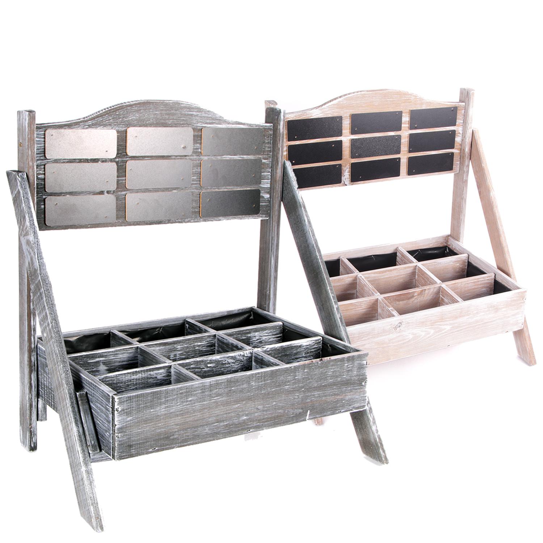 gro es pflanzregal wandregal pflanz palette 3er wandpalette dkw 33b ebay. Black Bedroom Furniture Sets. Home Design Ideas
