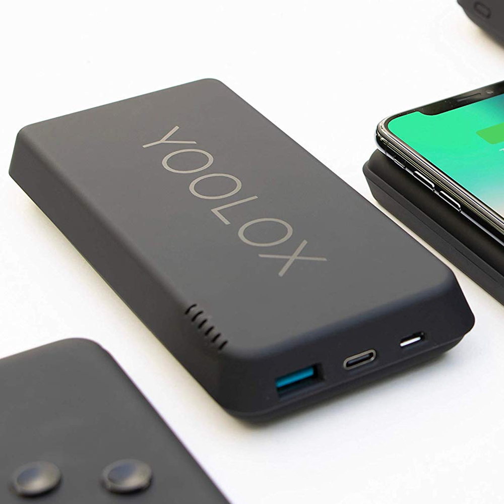 yoolox 10k wireless power bank charger qi ladeger t iphone. Black Bedroom Furniture Sets. Home Design Ideas