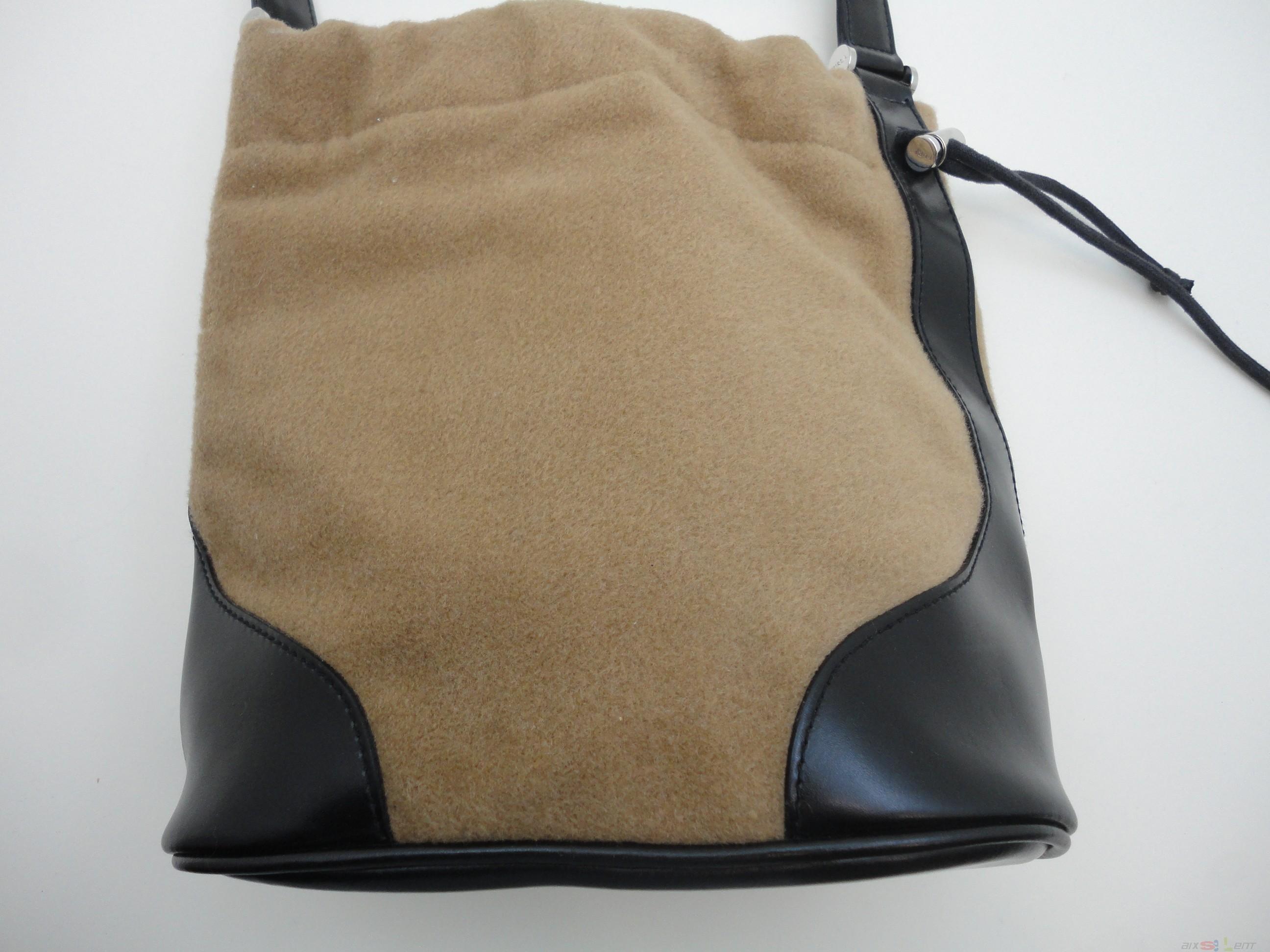 41a1bad09551e Details zu Furla Damen Handtasche Stoff Leder braun Innentasche Tasche
