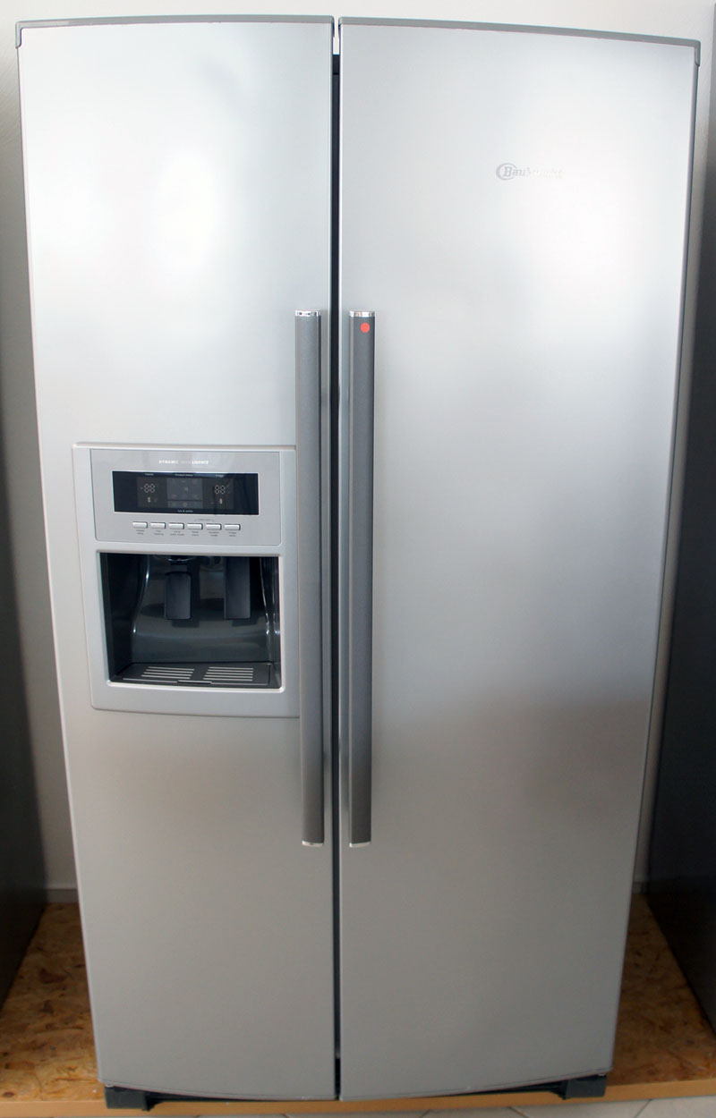 bauknecht ksn 525 opima10 stand kühlschrank side by side edelstahl