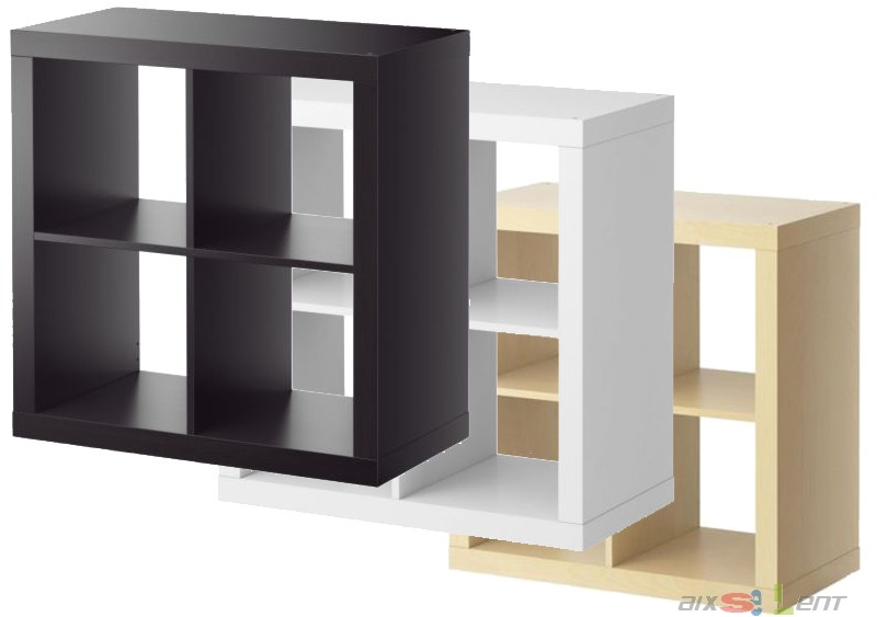 ikea expedit regal 2x2 79 x 79 x 39 cm neu ovp weiss schwarzbraun birke ebay. Black Bedroom Furniture Sets. Home Design Ideas