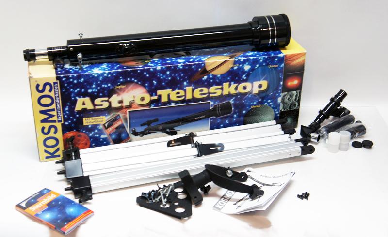 Astro teleskop kosmos expermentierkasten inkl naturführer