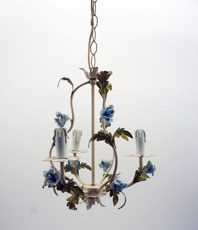 kronleuchter l ster florentiner metall 3 flammig blaue. Black Bedroom Furniture Sets. Home Design Ideas