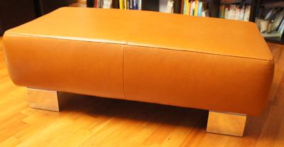 lederhocker hocker leder braun camel 120x60x40 cm. Black Bedroom Furniture Sets. Home Design Ideas