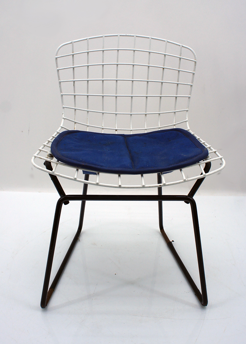 original knoll stuhl 2 st hle kinderst hle design harry bertoia bauhaus um 1960 ebay. Black Bedroom Furniture Sets. Home Design Ideas