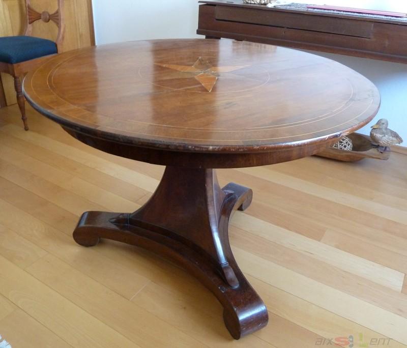 antiker tisch mit 5 st hlen ca 1830 biedermeier neue polsterung ebay. Black Bedroom Furniture Sets. Home Design Ideas