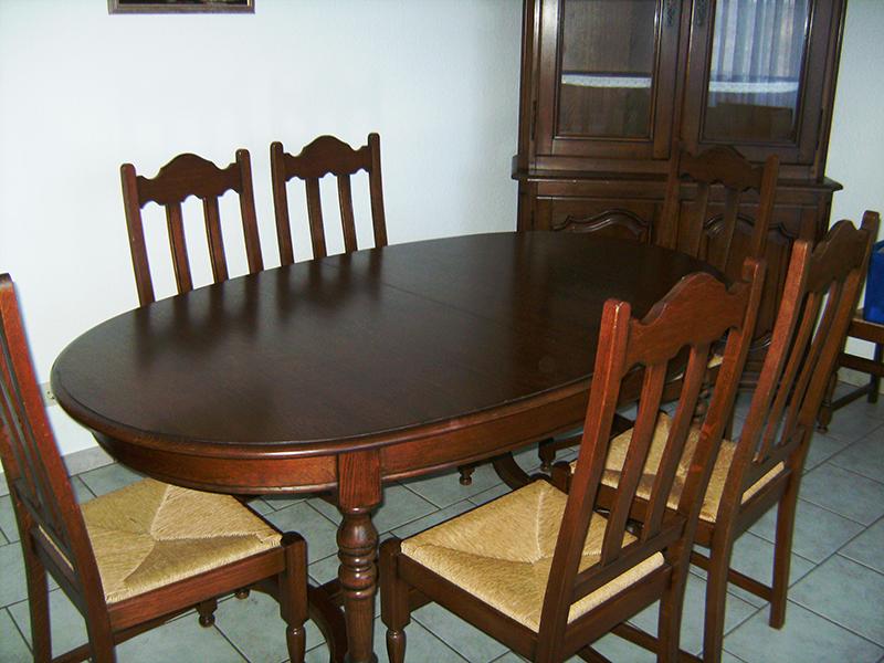 Eichentisch Esstisch Oval Tisch Eiche Mit 6 Stühlen