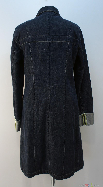 versace jeans couture damen mantel jacke lang blau gr m. Black Bedroom Furniture Sets. Home Design Ideas