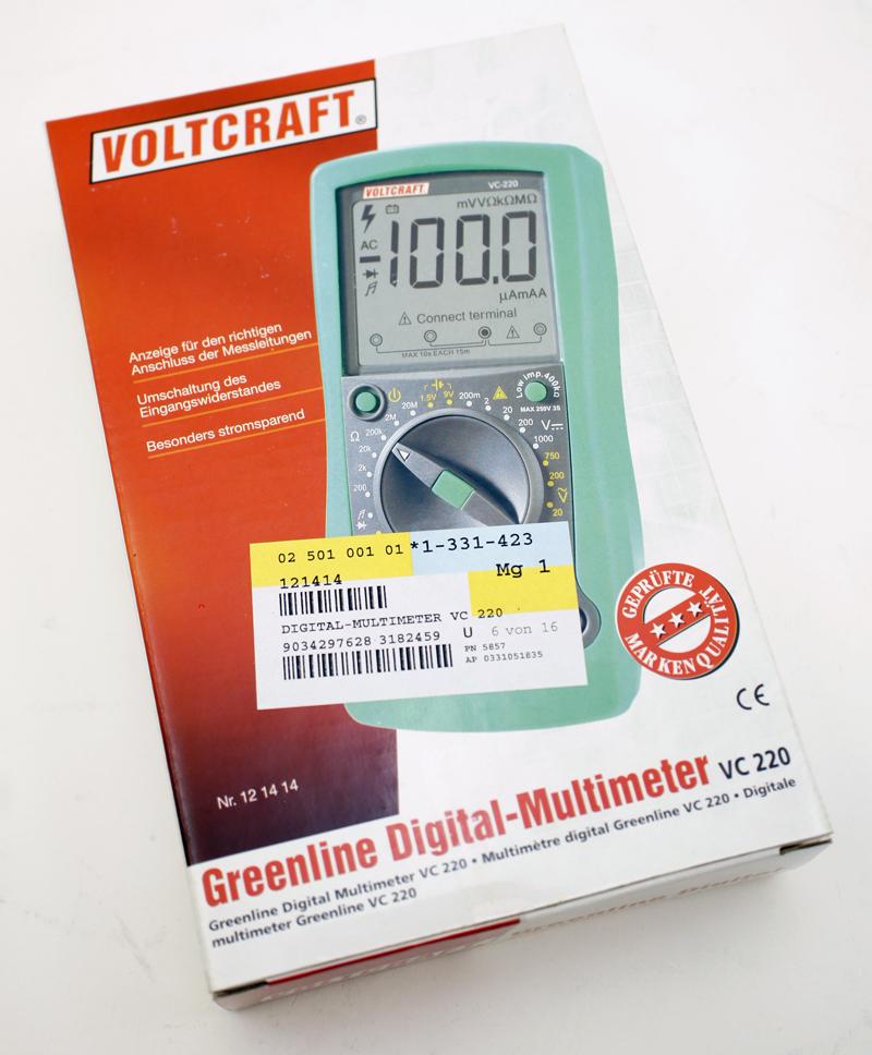 voltcraft greenline digital multimeter vc 220 neu ebay. Black Bedroom Furniture Sets. Home Design Ideas