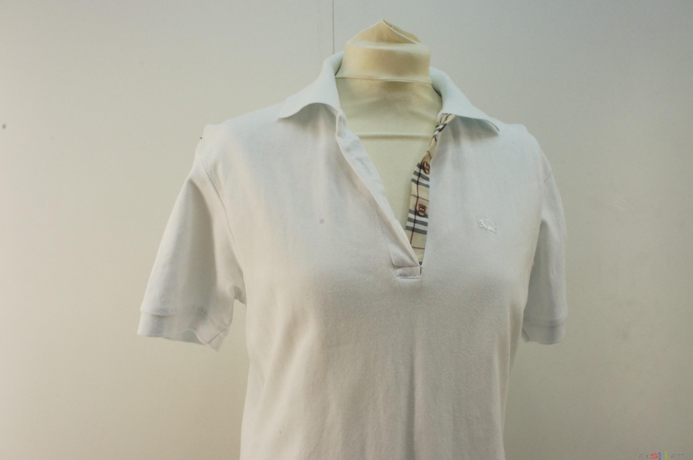 Burberry damen hemd tennisshirt gr xxl wei - Burberry hemd damen ...