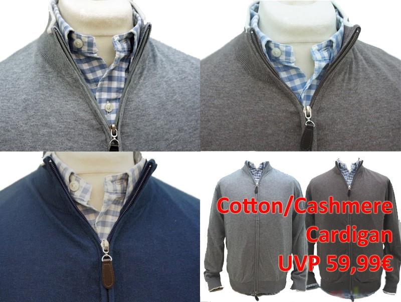 kashmir herren cardigan pullover zip strick jacke cotton. Black Bedroom Furniture Sets. Home Design Ideas