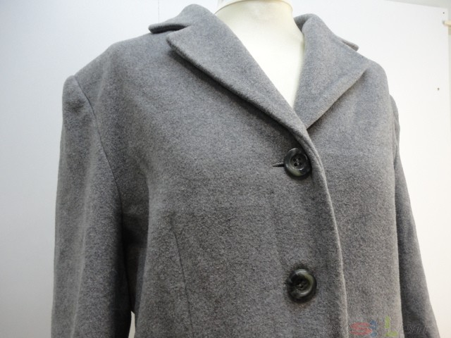 department damenmantel mantel cashmere grau schurwolle kaschmir gr 38 ebay. Black Bedroom Furniture Sets. Home Design Ideas