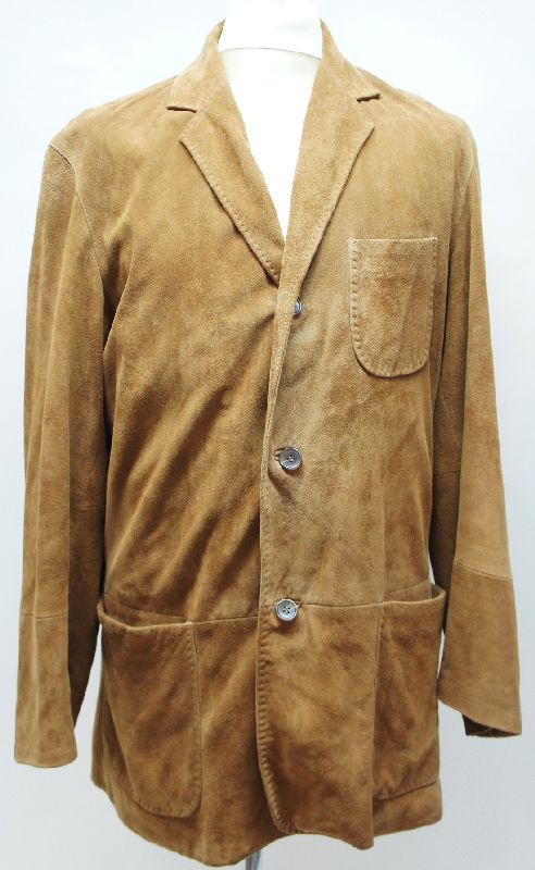 hugo boss herren wildlederjacke jacke jacket cognac braun gr 50 top ebay. Black Bedroom Furniture Sets. Home Design Ideas