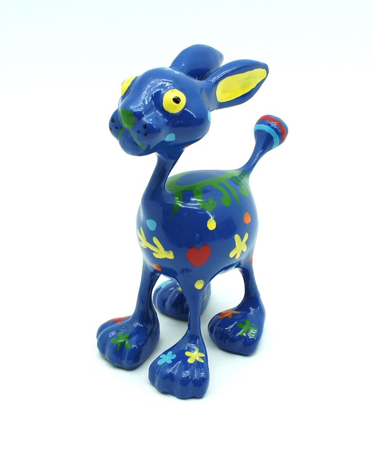 Topp-Arts-Kunstharz-Figuren-034-Tiere-mit-grossen-Fuessen-034-handbemalt-Hund-Kamel-Hase